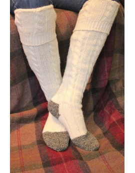 Long Cable Knit Welly Sock